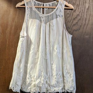 Maurice's white lace tank top  - size 2